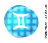 bright pixel zodiac icon set ...   Shutterstock .eps vector #185155238