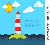 modern weather background with... | Shutterstock .eps vector #185156753
