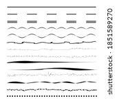 set of wavy  zigzag  sinuous... | Shutterstock .eps vector #1851589270