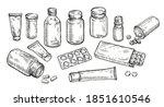medicines  pills and bottles... | Shutterstock .eps vector #1851610546
