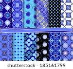 set of  abstract vector paper... | Shutterstock .eps vector #185161799