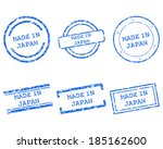 made in japan stamps | Shutterstock .eps vector #185162600