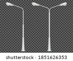 street kight pole isolated on... | Shutterstock .eps vector #1851626353