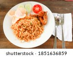 indonesian fried rice and... | Shutterstock . vector #1851636859