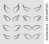 Many Kinds Of Wings Cartoon...