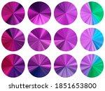 purple green round metallic... | Shutterstock .eps vector #1851653800