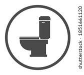 Toilet Wc Icon   Black Vector...