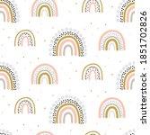 rainbow pattern kids decor... | Shutterstock .eps vector #1851702826
