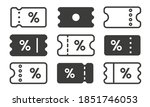 discount coupon icon set. black ... | Shutterstock .eps vector #1851746053