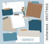 collection of various notes... | Shutterstock .eps vector #1851773413