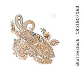 vector paisley floral isolated... | Shutterstock .eps vector #1851807163