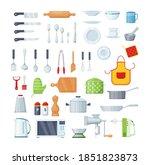 house cookware utensils for... | Shutterstock .eps vector #1851823873