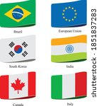 country flags icon set vector... | Shutterstock .eps vector #1851837283