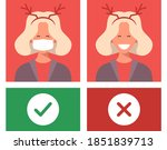 no mask no entry. protect and... | Shutterstock .eps vector #1851839713