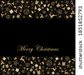 greeting card with gold... | Shutterstock .eps vector #1851852793