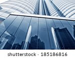 modern glass silhouettes of... | Shutterstock . vector #185186816