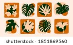 set of abstract exotic... | Shutterstock .eps vector #1851869560