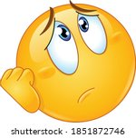 worried or sad emoji emoticon...   Shutterstock .eps vector #1851872746