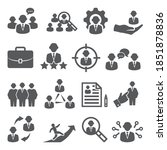 staff icons set on white... | Shutterstock . vector #1851878836