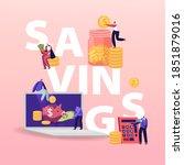 savings concept. tiny... | Shutterstock .eps vector #1851879016