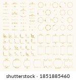 set of golden decorative... | Shutterstock .eps vector #1851885460