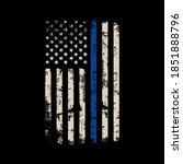 illustration us police flag... | Shutterstock .eps vector #1851888796