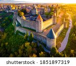 Aerial View Of Carcassonne  A...