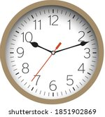 silver shiny clock hanging at... | Shutterstock .eps vector #1851902869