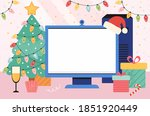editable template for new year... | Shutterstock .eps vector #1851920449