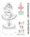 education dot to dot game for...   Shutterstock .eps vector #1851940513
