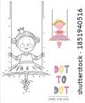 education dot to dot game for...   Shutterstock .eps vector #1851940516