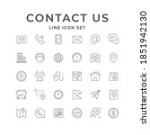 set line icons of contact us | Shutterstock .eps vector #1851942130