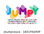 jumping style font  alphabet...   Shutterstock .eps vector #1851946909