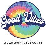70s retro groovy hippie good... | Shutterstock .eps vector #1851951793