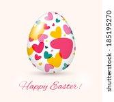 easter egg card. vector... | Shutterstock .eps vector #185195270