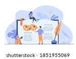 tiny people reading and writing ... | Shutterstock .eps vector #1851955069