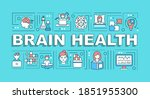 brain health word concepts...