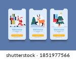 christmas home page ui. flat...