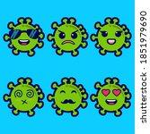 vector corona virus with...   Shutterstock .eps vector #1851979690