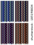 zigzag shaped multi colored... | Shutterstock .eps vector #185198834
