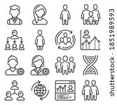 population people icons set on...   Shutterstock .eps vector #1851989593
