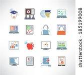 online learning  online... | Shutterstock .eps vector #185199008