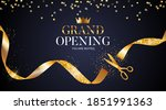 grand opening card with ribbon... | Shutterstock .eps vector #1851991363