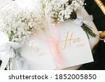 Wedding Flower With Vow Cards