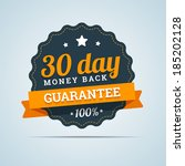 30 day money back badge. vector ...