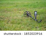 Metal Detector Laying Outdoors...