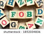 alphabet letter block in word... | Shutterstock . vector #1852034836