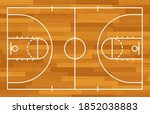 basketball fireld with markings ...   Shutterstock .eps vector #1852038883