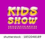 vector creative poster kids... | Shutterstock .eps vector #1852048189