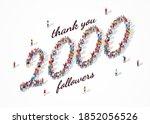 2k followers. group of business ... | Shutterstock .eps vector #1852056526